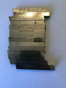 14pc Square Tool Bit High Speed Steel 5 16 X 2 1 2 For Lathe Fly Cutter India