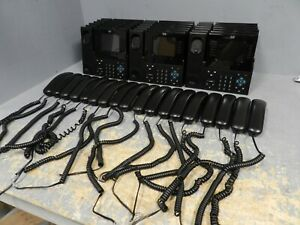 Lot Of 18 Cisco 8961 Unified Ip Voip Phone Black Slimline W Handset No Stands