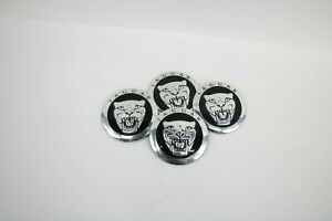 4 Pcs 56mm Car Wheel Center Hub Caps Covers Emblems Stickers For Jaguar J5