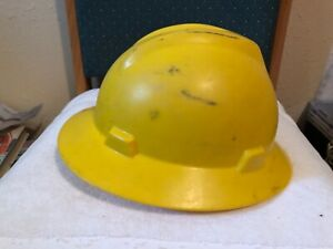 Yellow Msa Safety Hard Hat Helmet With Liner