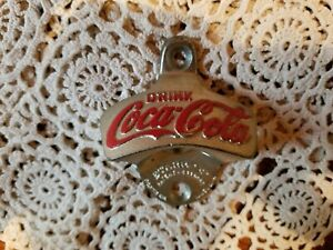 VINTAGE COCA COLA WALL MOUNT BOTTLE OPENER MADE IN W GERMANY STAR