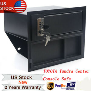 For 2014 19 Toyota Tundra Center Console Safe Gun Storage W Tray 00016 34174
