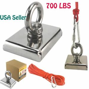 700lbs Big Fishing Magnet Hunting Pull Force Strong Neodymium 10m Rope