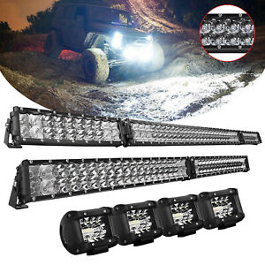 52inch 42inch 4inch Led Light Bar Spot Flood Offroad For Ford Truck Atv Pickup