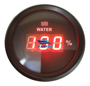 1pc 240 33ohm Boat Digital Water Level Gauges 52mm Auto Water Tank Level Meters