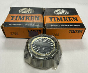 Timken 2788 Tapered Roller Bearing Cone Lot Of 2 Nos
