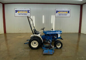 Ford 1210 Tractor With Belly Mower 3pt Arms Mid Mount Pto And Rear Pto