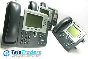 Lot Of 5 Cisco 7960 Cp 7960g Ip Voip Handset And Office Business Desktop Phones