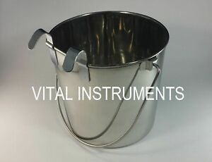 Stainless Steel Bucket Pail Flat Sided 6 Qt Dog Pup Kennel Farm Feed Box Of 12