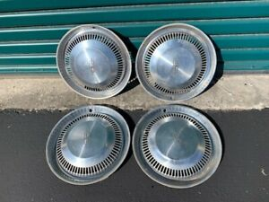 4 Used Hub Cap Wheel Covers For 1960 s Oldsmobile 14 Inch Driver Quality