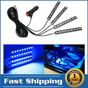 4 5 Blue 36 Smd Led Ambient Styling Lighting Kit For Car Interior Decoration