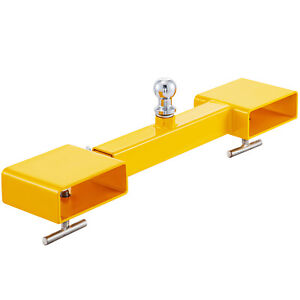 Dual Pallet Fork Attachment Clamp on Trailer Mover Forklift Tractor Tools 5000lb