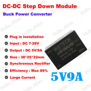 High Current Regulator Dc dc Buck Step Down Converter Dc 9v 12v 18v 24v To 5v 9a