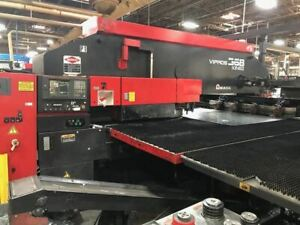 33 Ton Amada Vipros 368 King Ii Cnc Turret Punch 1998 Tower Loading System