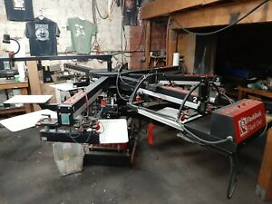 Automatic Screen Printing Press workhorse Freedom 6 Color 8 Station