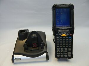 Symbol Motorola Mc9090 Barcode Scanner Windows Mobile Computer Charger Base Lot