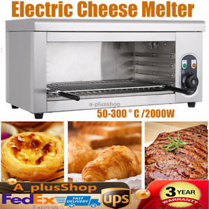 2000w Electric Cheese Melter Commercial Cheese Broiler Bbq Counter 50 300 C