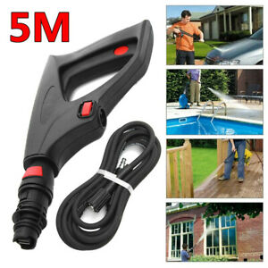 5m Hose Pressure Washer Lance Spray Trigger Gun Variable Nozzle For Lavor