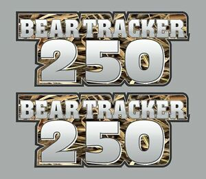 Bear Tracker Camo Gas Tank Graphics Decal Sticker Atv Quad 250 300 Plastic 4x4