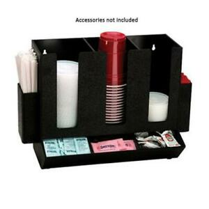 Dispense rite Hlco 3bt 8 section Cup lid straw condiment Caddy