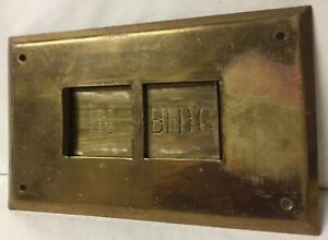 Vintage Brass will Return At clock Sign In Out Be Back Soon Sign