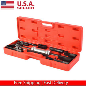 16pcs Slide Hammer Dent Puller Tool Kit Wrench Adapter Axle Bearing Hub Auto Set