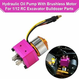 Mini Hydraulic Oil Pump With Brushless Motor For 1 12 Rc Excavator Bulldozer