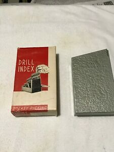 Huot Vtg Drill Index Box 26 For Letter Drills A Thru Z New Cond From Old Stk