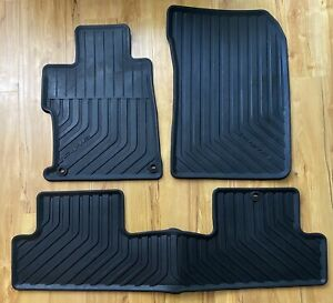 2006 2010 Honda Civic Coupe Black Rubber All Weather Floor Mats Oem Factory