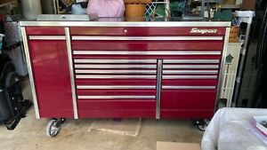 Snap On Kerp763a5pm Rolling Tool Box Cranberry Triple Bank 14 Drawer Stainless