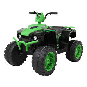 GREEN 12V Kids Electric ATV Ride On Car Toy with 2 Speeds   LED Light   Music