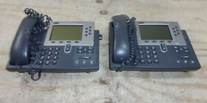 Lot Of 2 cisco 7960 Cp 7960g Voip Ip Office Telephone See Notes