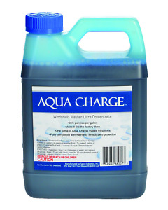 Aqua Charge Windshield Washer Ultra Concentrate 1 Quart Makes 55 Gallons Finish