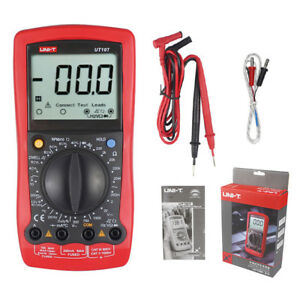 Automotive Multimeter Uni T Ut107 Lcd Dmm Acv Dcv Tester Tach Dwell Temp Rpm Tes
