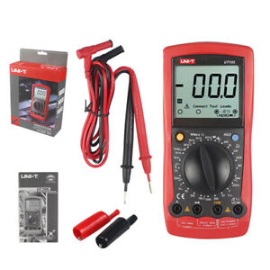 Automotive Multimeter Uni T Ut105 Lcd Dmm Acv Dcv Tester Tach Dwell Rpm Ohm Tes