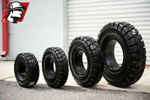 Forklift Tire 650x9 Solid Pneumatic Double Shift Quality For Nissan