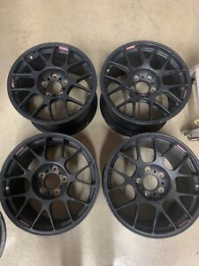 Set Of 4 Bbs 18 Forged Race Wheels 5x5 From A Gt Racecar