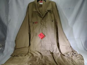 Lapco Nxcd45kh Khaki Nomex Deluxe Coverall T2