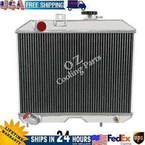 4 Row Aluminum Radiator For 1941 1952 Jeep Willys Mb Ford Gpw 1940 1949 1948 47