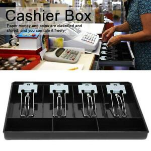 Cash Drawer Register Insert Tray Replacement Cashier Four Box With Metal Clip Us