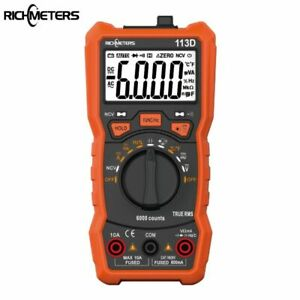 Hot Richmeters Rm113d Ncv Digital Multimeter Auto Ranging Ac dc Voltage Meter