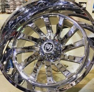 Hardcore Hc15 44mm 24x12 Chrome Wheels Swghc15241223c 44 8x180 Chevy Gmc