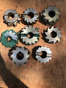 Set Of 8 Assorted Horizontal Shell Mill Cutters 3 4 dia lot 28
