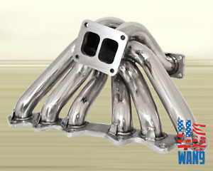 93 98 Toyota Supra 2jz Gte 3 0l I6 Is300 Sc300 T4 Stainless Turbo Manifold