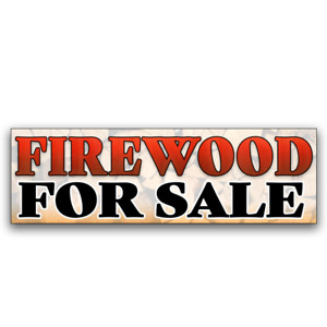 Firewood For Sale Vinyl Banner size Options