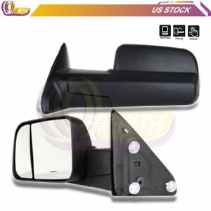 Manual Telescopic Tow Mirrors For 2009 2010 2011 2012 2013 2014 2015 Dodge Ram