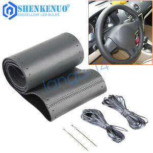 Black Genuine Leather Steering Wheel Cover Ford F 150 2004 2011 High Quality