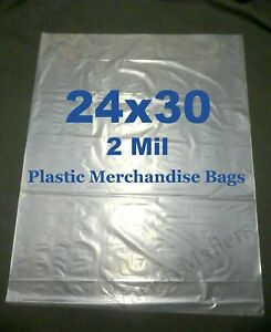 10 Extra Large 24 x 30 2 Mil Clear Flat Plastic Merchandise Storage Bags
