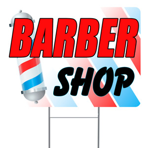 Barber Shop 18x24 Inch Sign With Display Options