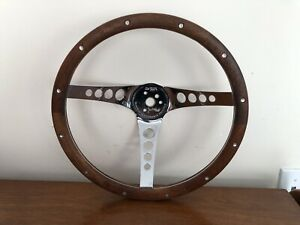Vintage Superior Performance Products The 500 13 5 Wood Steering Wheel A242